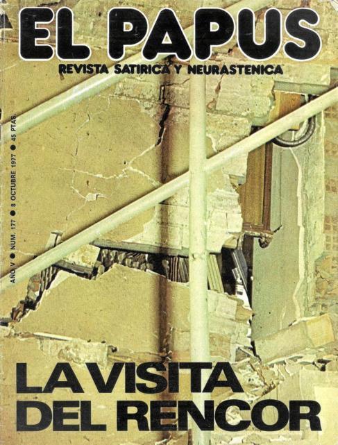 """Portada de la revista """"El Papus, revista satírica y..."""