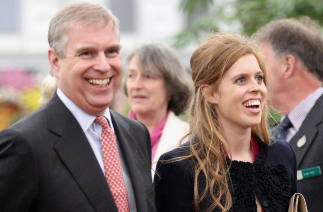 El duque de York y su hija, la princesa Beatrice.