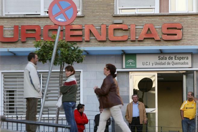 Entrada a las urgencias del hospital Virgen del Rocío de Sevilla.