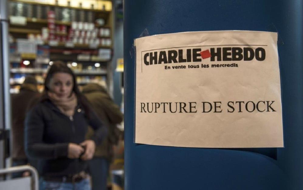 En un quiosco de Dunquerque (Francia) también cuelgan el cartel...