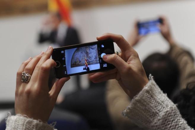 Artur Mas, fotografiado durante su comparecencia en el Palau.
