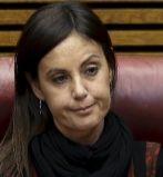 La diputada del PP Elisa Díaz en su escaño de las Cortes...