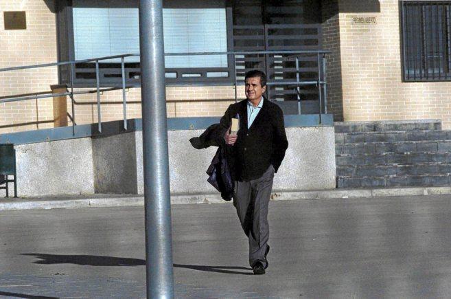 Jaume Matas a la entrada de la prisión de Segovia.