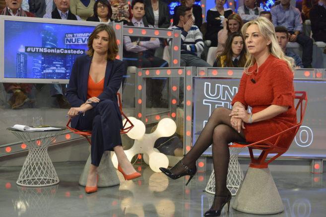 Sonia Castedo y Sandra Barneda durante la entrevista del pasado...