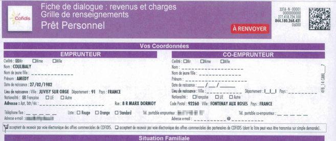 Detalle de la solicitud del préstamo.