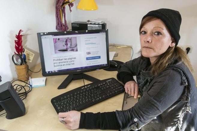 Lidia Amella, activista contra paginas proanorexia