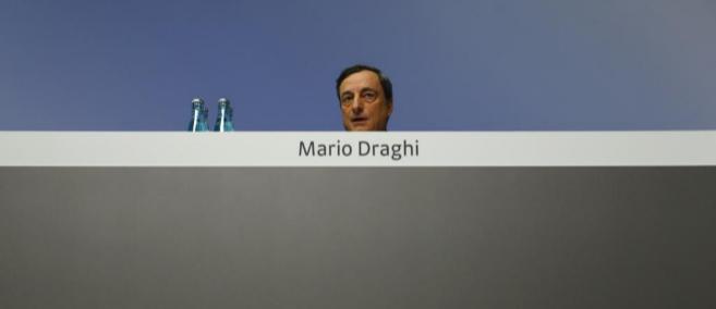 El presidente del Banco Centro Europeo (BCE), Mario Draghi, en una...