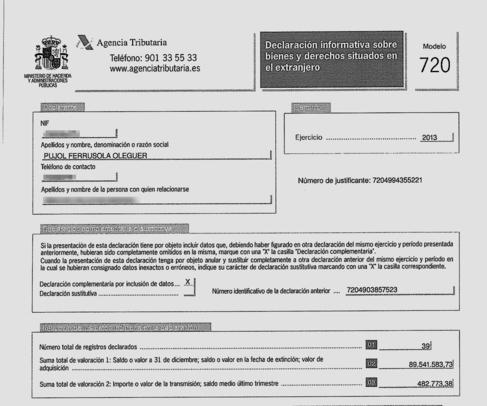 LOS MODELOS 720. La Agencia Tributaria y la Fiscalía Anticorrupción...