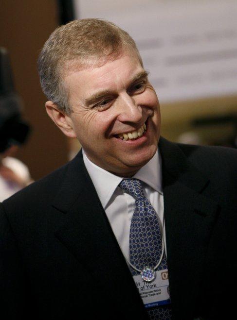 El príncipe Andrés, en 2009 en el Foro de Davos.
