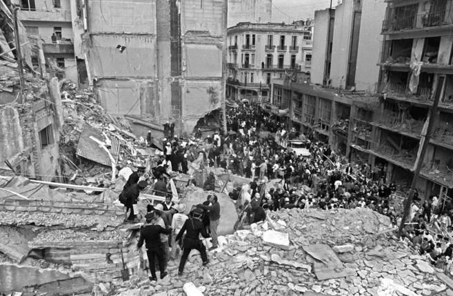 Imagen del edificio tras el atentado en 1994.