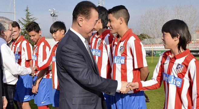 Wang Jianlin visitó las instalaciones del Atlético el pasado mes de...