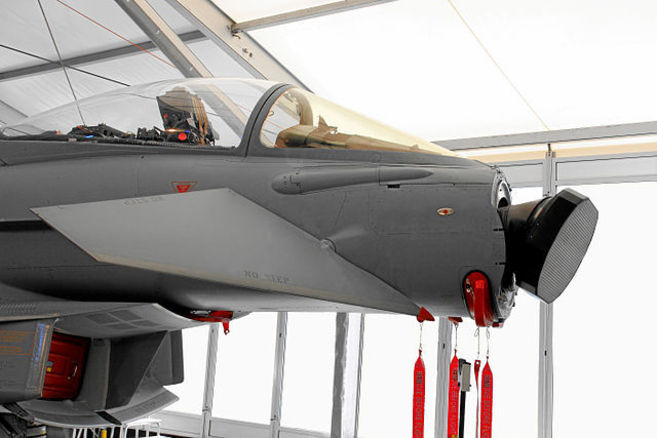 El avión Euro Fighter Typhoon, que incluirá el nuevo radar.