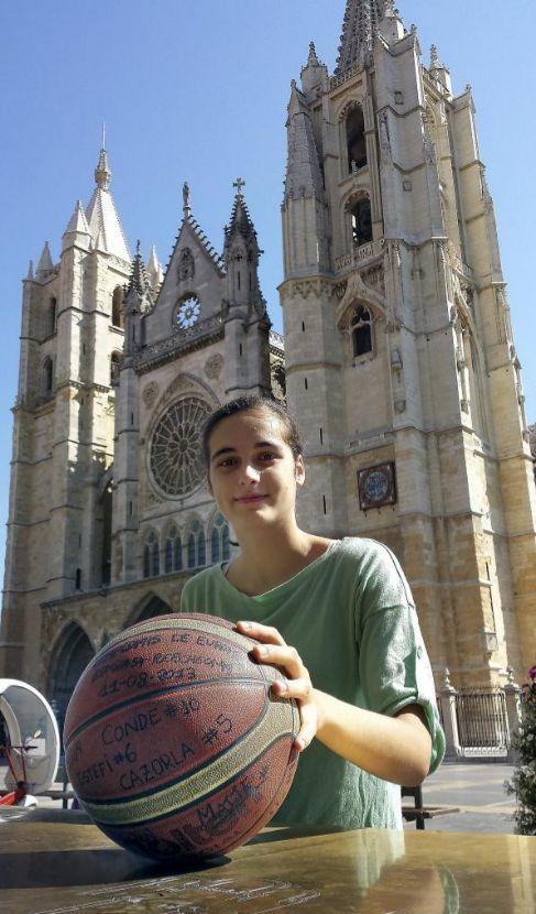 Ángela Salvadores, el pasado julio en León.