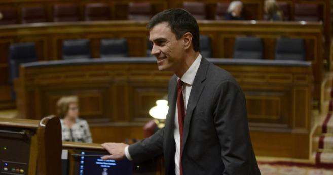 Pedro Sánchez, líder del PSOE, en el Congreso.