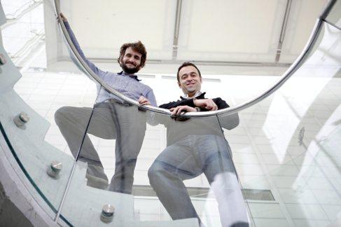 David Gil y Rafael  Pinilla en sus oficinas.