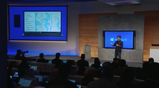 Un momento de la presentación de Microsoft en Seattle.