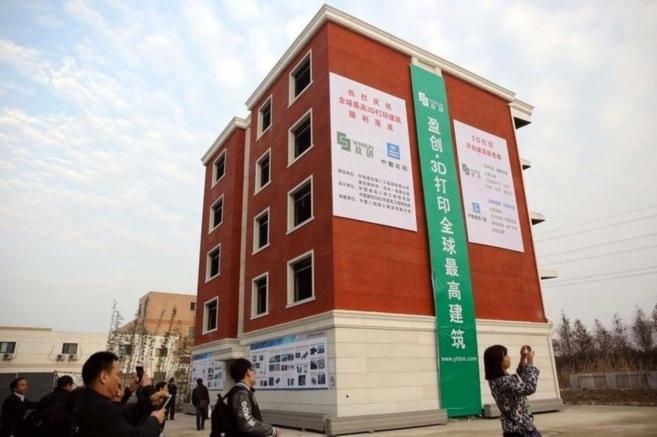 Imagen de la fachada del edificio fabricado con técnicas de...