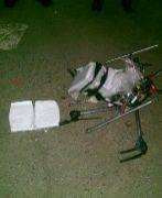 Imagen del artefacto después de caer al suelo.
