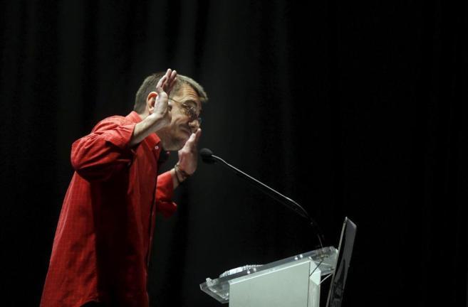 El 'número tres' de Podemos, Juan Carlos Monedero, en un acto de...