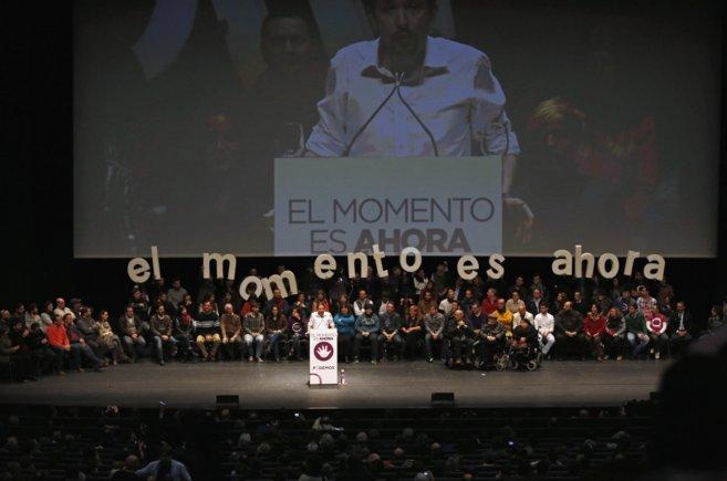 Pablo Iglesias en el reciente acto celebrado por Podemos en Sevilla.