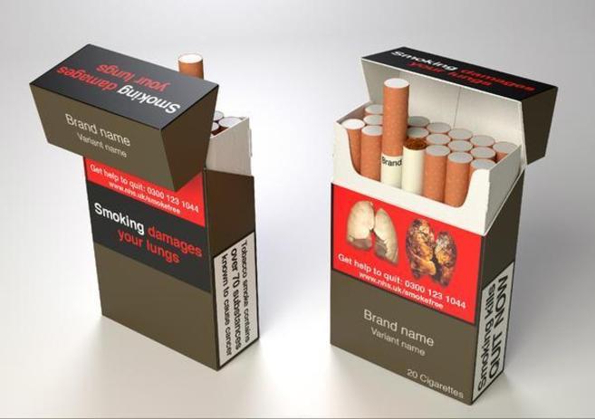 Imagen de los futuros paquetes de tabaco.