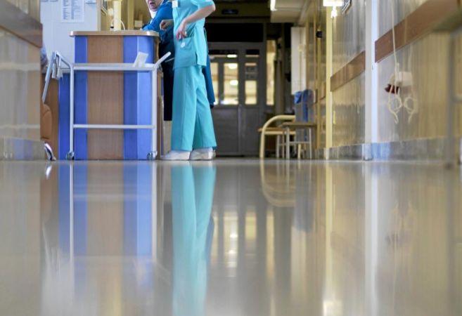 El pasillo de un hospital español