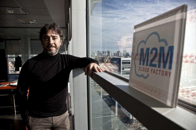 Jaume Rey, CEO y fundador de M2M Cloud Factory, en la sede de la...