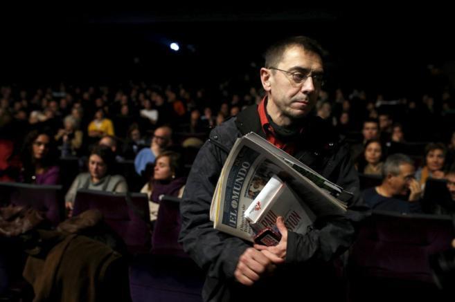 El 'número tres' y fundador de Podemos, Juan Carlos Monedero, en un...