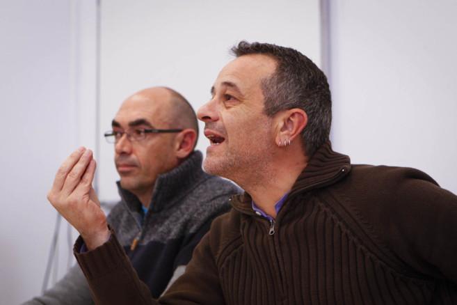José Antonio Castro, junto al candidato de IU a las municipales en...
