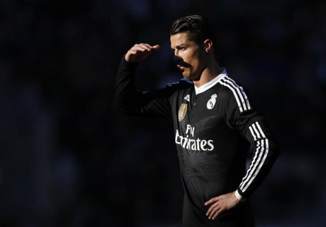 Cristiano Ronaldo durante el partido en Córdoba.