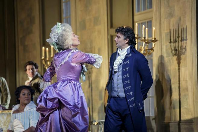 Kaufmann y Rosalind Plowright, en una escena de este montaje de...