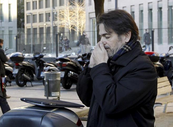 Oriol Pujol el pasado 12 de enero en su última visita al juzgado
