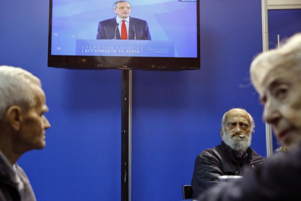 Los partidarios de la Nueva Democracia -mientras esperan los...