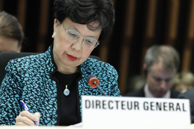 Margaret Chan, en rueda de prensa en Ginebra.