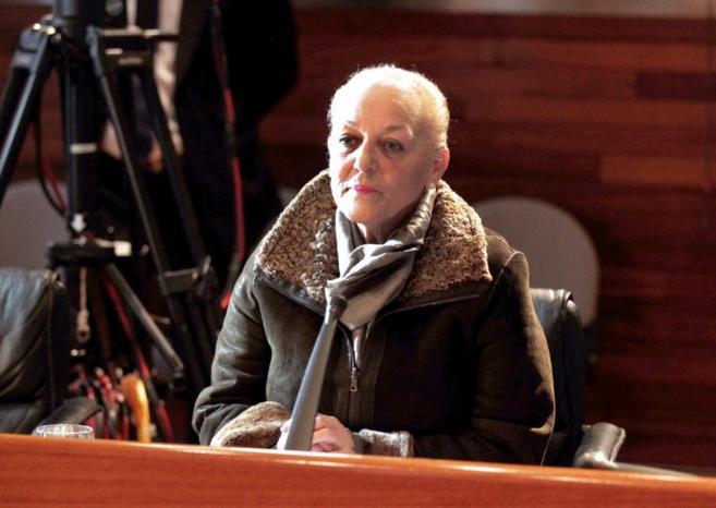 María Jesús Iglesias, en silencio ante los miembros de la comisión.