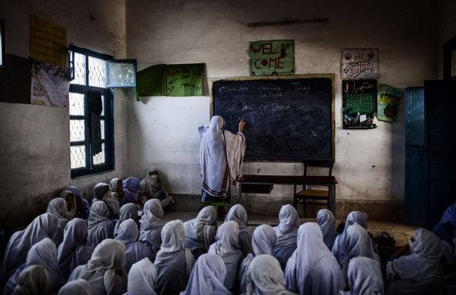Una escuela de la región pakistaní de Nowshera