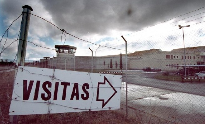 Acceso para las visitas a la cárcel de Brieva, donde siete reclusas...