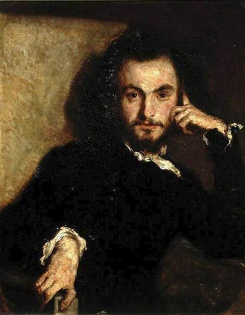 Retrato de Charles Baudelaire pintado por Emile Deroy en 1844.