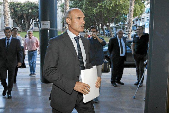 Juan Seva en el juzgado de lo Mercantil 1 de Alicante el pasado mes de...