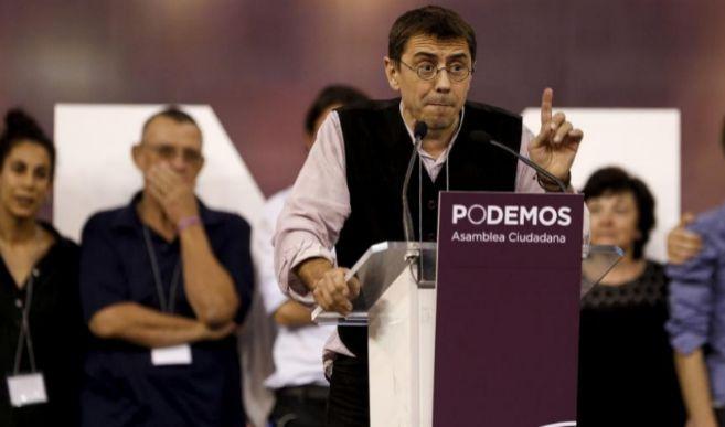 Monedero, en una asamblea ciudadana de Podemos en Madrid.