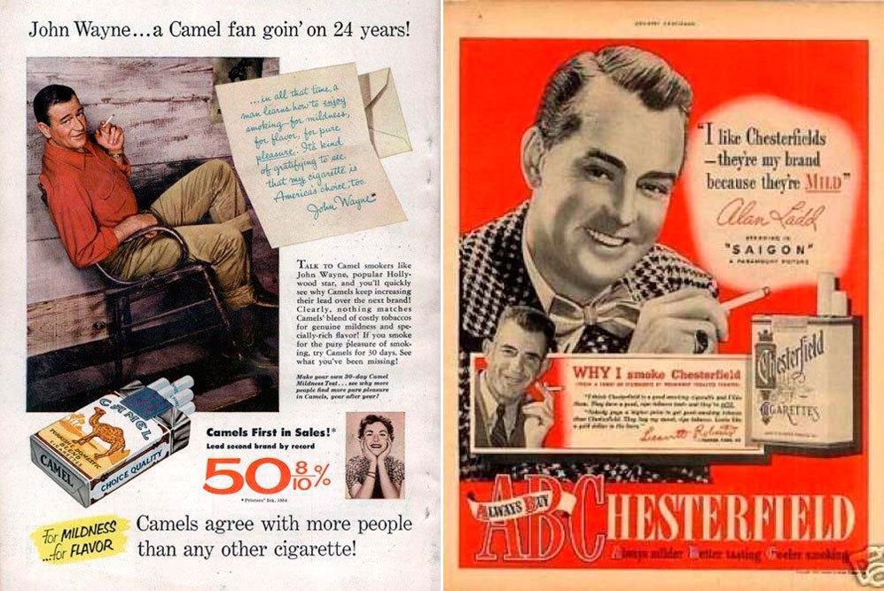 """Los actores John Wayne, que """"lleva 24 años siendo fan de Camel"""", y..."""