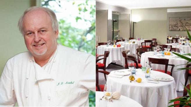 Jean Louis Neichel y parte del restaurante Neichel, de Pedralbes, que...
