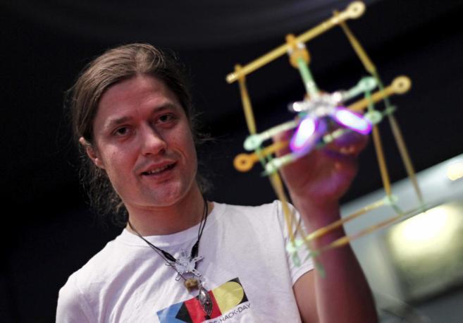 Carl Bärstad, antes del Kids Hack Day celebrado en Valencia.