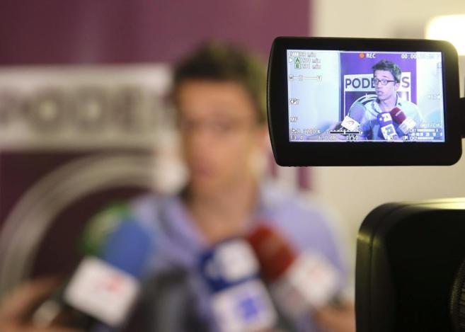 El secretario de Política de Podemos, Íñigo Errejón, durante una...