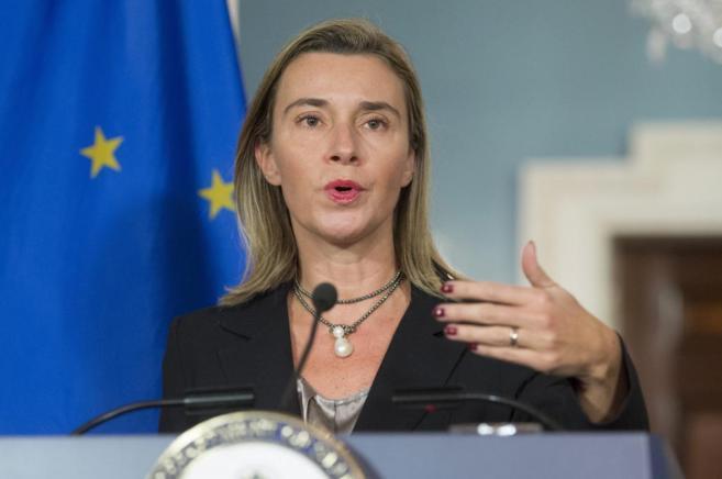 La jefa de la diplomacia europea, Federica Mogherini.
