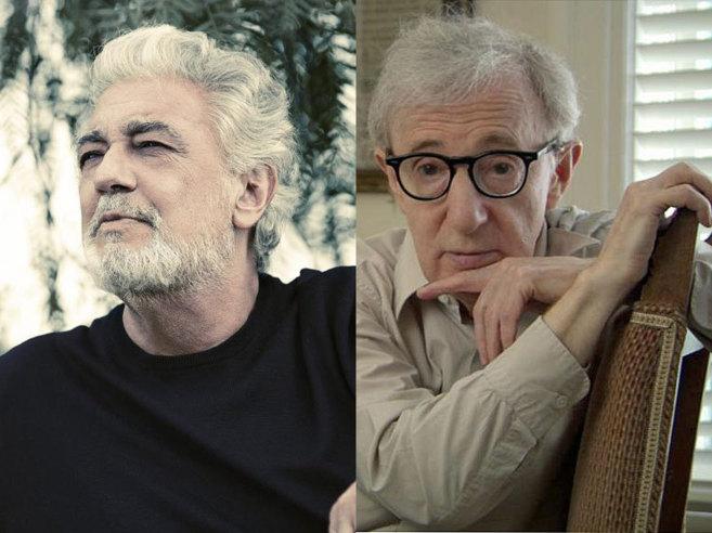 Plácido Domingo y Woody Allen