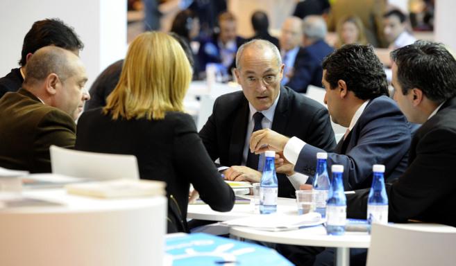 Jean Luc Magan y Javier Moliner, durante una de las reuniones...