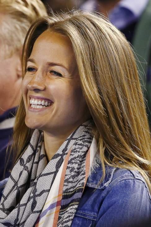 Kim Sears, prometida de Andy Murray, tras la victoria de su chico.