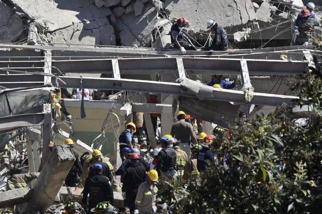 Estado en que quedó el hospital de Cuajimalpa tras la explosión de...