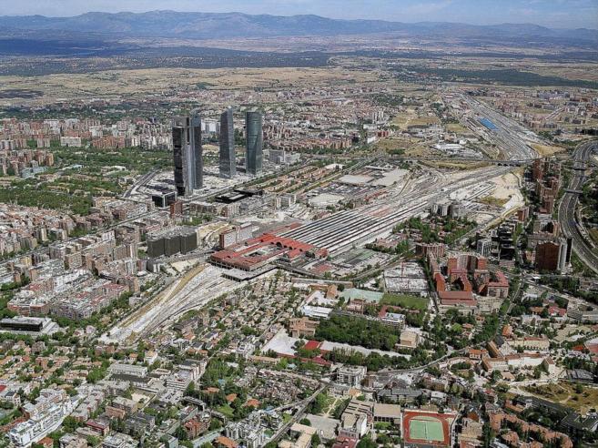 Imagen aérea actual de la zona en la que se desarrollará Distrito...